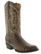 Brown All Real Crocodile Skin Leather Cowboy Boots Rodeo Riding Exotic Alligator