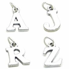 Initial letter A - Z sterling silver charms .925 x 1 Initials Letters Pendants