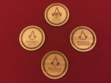 Assassins Creed Clear Acrylic Drink Coasters Set of 4