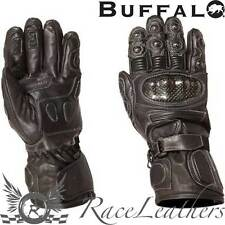 BUFFALO THERMOSPORT WATERPROOF THERMAL LEATHER MOTORCYCLE MOTORBIKE GLOVES