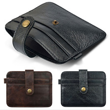 Slim Vintage Leather Wallet ID Credit Card Holder Genuine Pouch Bag Purse Case