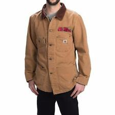 New Carhartt Weathered Cotton Duck Chore Coat Jacket Brown Mississippi M