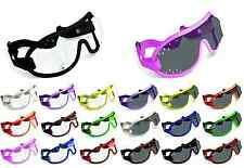NEW- KROOPS Horse Racing Riding Jockey Goggles |Punch Vent |Clear+Tinted Lenses