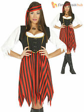 Ladies Pirate Lady Costume Adults Caribbean Buccaneer Fancy Dress Womens Outfit