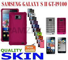 AMZER Skin Gel Cover + extra Case/ Screen Protector Samsung Galaxy S II GT-I9100