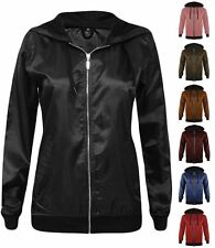 New Womens Lightweight Festival Anorak Rain Coat Bomber Top Jacket