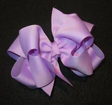Lt Lavender Purple Boutique Hair Bow Girl Big Double Layer Hairbow Pageant Party