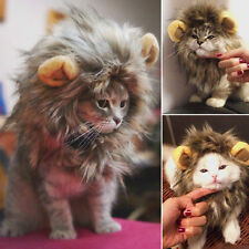 Pet Hat Lion Mane Wig For Cat Halloween Fancy Dress Up With Ears Festival CK