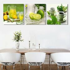 Framed 3 Pcs Modern Wall Art Fruits Home Decoration On Canvas Prints Painting