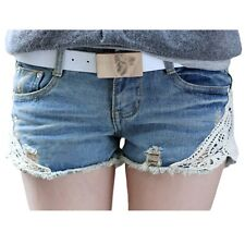 Summer Dress 2016 Lace Washed Women Shorts Mid-waist Korean Style Denim Shorts