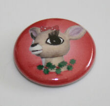ISLAND MISFIT TOYS RUDOLPH REINDEER PIN BUTTON 1 Inch Santa Doll Red-Nosed Elves