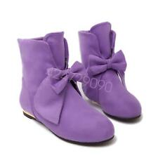 NEW Womens Med Heel Mid-Calf Boots Shoes Increase Bowknot AU Size YDXS1880