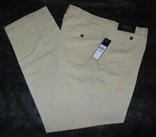 Mens new Polo Ralph Lauren Classic-Fit Briton Twill Pants size 34 40 Khaki Linen