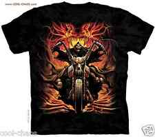 FIRE VIPER GHOST RIDER REAPER DEATH BIKER T-SHIRT/DYE HEAVY METAL ART BY Ajmal