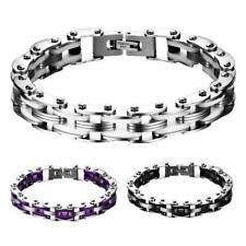 Fashion Mens Jewelry Stainless Steel Bicycle Hand Chain Charm Bangle Bracelet