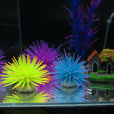 Silicone Aquarium Fish Tank Artificial Coral Plant Underwater Ornament Decor BBA