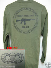 AIRBORNE LONG SLEEVE T-SHIRT/ IRAQ COMBAT OPS / MILITARY/   NEW