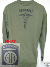 82nd AIRBORNE LONG SLEEVE T-SHIRT/  MEDIC/ MILITARY/ ARMY/    NEW