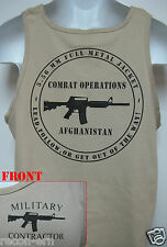PRIVATE MILITARY CONTRACTOR TANK TOP / AFGHANISTAN COMBAT OPS /  NEW