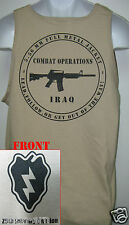 25th I.D. TANK TOP/ T-SHIRT/ IRAQ COMBAT OPERATIONS / MILITARY TAN / ARMY / NEW