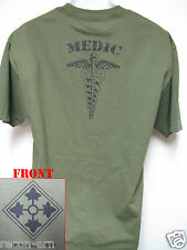 4th ID T-SHIRT/ MEDIC/ MILITARY/  4TH INFANTRY DIV/  NEW