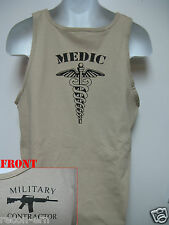 PRIVATE MILITARY CONTRACTOR TANK TOP / COMBAT MEDIC /  NEW