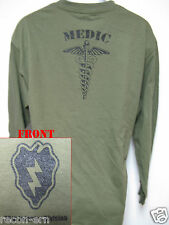 25th I.D. LONG SLEEVE T-SHIRT/ MEDIC / MILITARY/ ARMY / NEW
