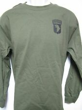 101 AIRBORNE LONG SLEEVE T-SHIRT/ front print only / MILITARY/ ARMY t-shirt/ NEW