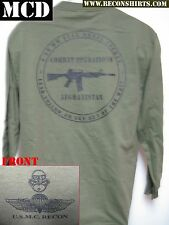 USMC RECON LONG SLEEVE T-SHIRT/ MCD/ AFGHANISTAN COMBAT OPERATIONS T-SHIRT/ M-4