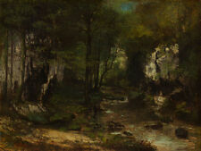 """Gustave Courbet : """"The Stream"""" (1855) — Giclee Fine Art Print"""