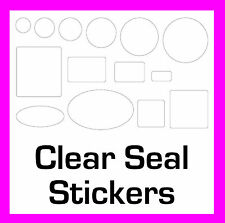 Bag / Box Permanent Transparent Clear Security Seal Stickers Sticky Labels