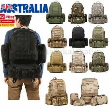 4In1 Molle Military Camping Tactical Outdoor Rucksacks Backpack Bag 600D Nylon A