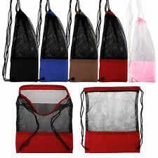 Hiking Sport Pack Tote Travel Backpack Bag Mesh Drawstring