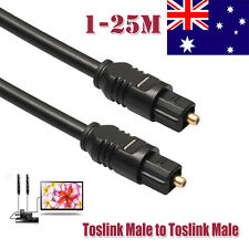 25M Digital Fiber Optical Optic Audio SPDIF MD DVD TosLink Cable Lead Cord Black