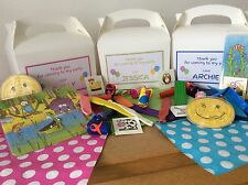 PRE FILLED PERSONALISED CHILDREN'S BIRTHDAY PARTY BOX - complete with TEN items