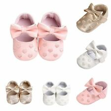 0-18M Newborn Baby Kid Shoes Soft Sole Princess Girl Cute Crib Shoes Prewalker