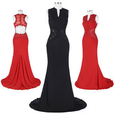 Evening Mermaid Dress Formal Ball Gown Long Prom Dresses Party Lace Pageant 2-16