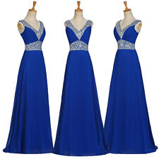 BEADED Long Maxi Evening Dresses Formal Party Ball Gown Prom Bridesmaid Cocktail