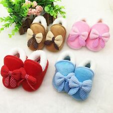 Toddler Baby Girl Winter Boots Shoes Indoor Soft Sole Crib Shoes Prewalker Shoes