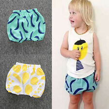 Toddler Kids Baby Girl Boy Summer Casual Diaper Cover PP Bloomers Bottoms Shorts