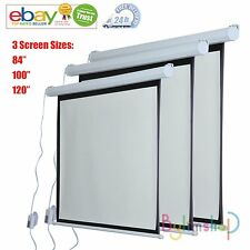 Electric Motorized Projector Screen TV Cinema Remote Control 3D HD 3 Sizes