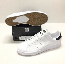 ADIDAS STAN SMITH VULC #B49619 WHITE / WHITE-NAVY *NEW*