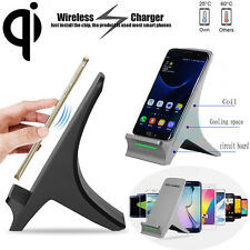 Lot 3 Coils Qi Wireless Fast Charger Charging Stand Dock Holder for Samsung S7