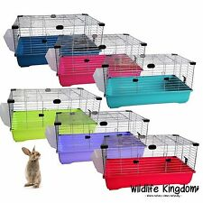 Large Indoor Rabbit 100cm Cage Bunny Guinea Pig Small Animals Hutch Many Colours