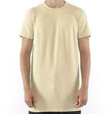 RICK OWENS DRKSHDW WOVEN T-SHIRT SS TEE ALMOND MEN NEW SIZE S M ITALY DESIGNER