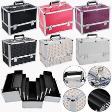 Extra Large Space Storage Box Make up Nail Tech Jewelry Cosmetic Vanity Case Alu