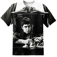 Scarface Tony Montana Logo T Shirt Print Yayo Movie Poster Al Pacino Gangster