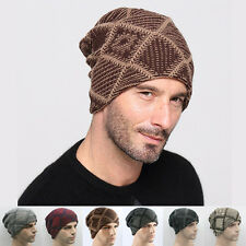 Beanie Mens Wool Knit Ski Caps Skull Hat Winter Slouchy hats free ship beanies