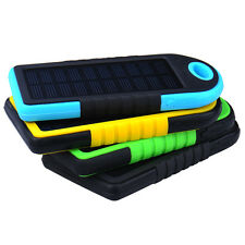 5000mAh Solar Charger USB Power Bank Mobile External Battery For iPhone Samsung