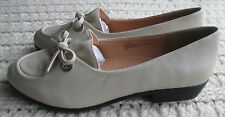 NEW Womens Low Heels Loafer Comfortview Faux Leather Bow Mabel Size/Color Choice